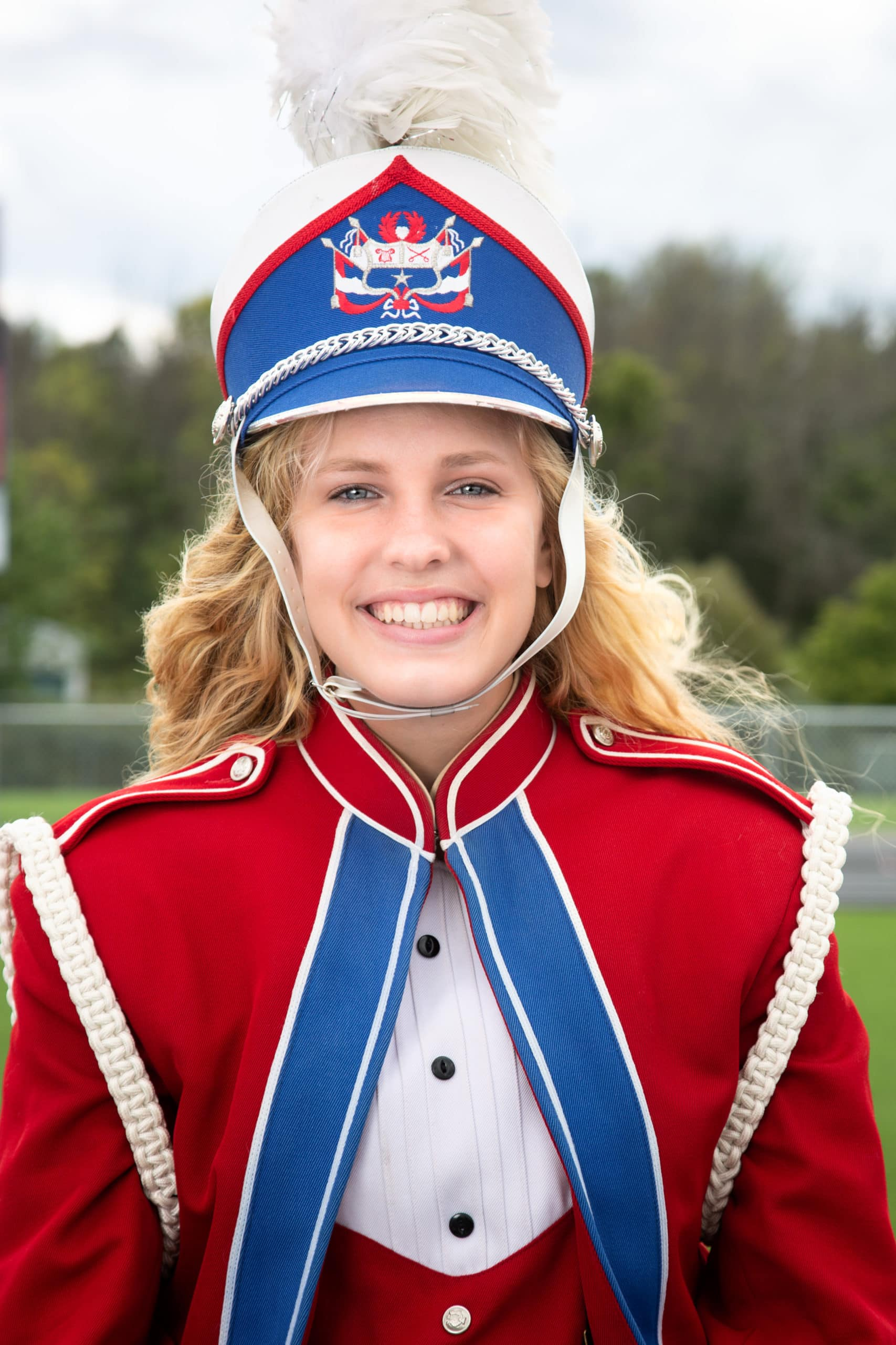 Sophie in her band uniform